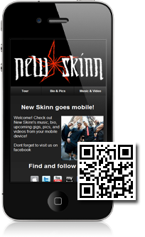 Entropy's mobile site built with Mobidoo