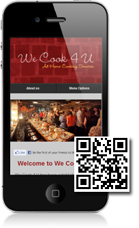 Mobidoo - example mobile website. Scan the QR code to view on your mobile phone
